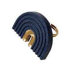 Wolf & Moon Designer Modern Navy Blue Statement Arch Ring, Gold Plated, gift