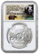 2016 China 1oz Proof Silver Panda ANAHEIM 125th Anniversary ANA Show NGC PF70 UC