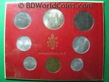 VATICAN CITY 1967 8 COINS MINT SET 1+2+5+10+20+50+100+500 LIRE (1 SILVER COIN)