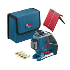 Bosch GLL3-80P Triple Plane 360-degree Self Leveling Line Laser Power Measuring