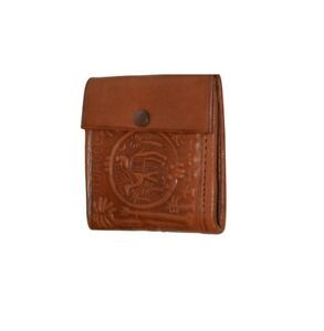 Moroccan Handmade Wallet Credit Card Leather Coin Change Pocket Small Brown by M
