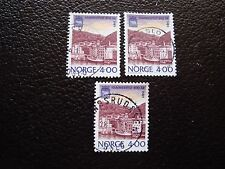 NORVEGE - timbre yvert et tellier n° 973 x3 obl (A04) stamp norway (Z)