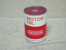 VINTAGE CONOCO PLASTIC 1QT MOTOR OIL CAN IN GREAT CONDITION FULL