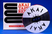 Vintage Akai Metal 7 Inch Take up Reel Die Cut w/Original Box & Video Inspection
