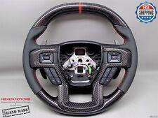 Ford Raptor F150 17-19 Flat Top Bottom 8 Orange Ring Napa Carbon Steering Wheel