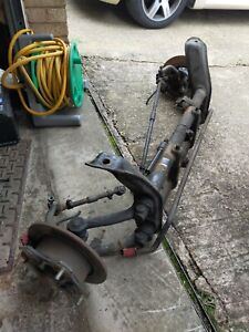 """VW Beetle Front Beam With Wide 5 Disc Brake Conversion - 2"""" narrowed"""