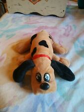 Vintage 1986 Pound Puppie Brown with black Spots Spotted Plush Puppy