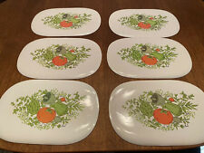 New ListingVintage Vinyl Foam Vegetable Placemats Set of 6