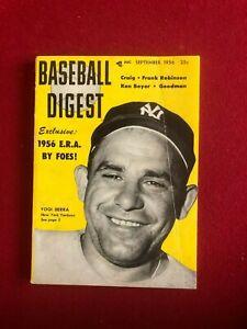 "1956, Yogi Berra, ""BASEBALL DIGEST"" (No Label) Scarce / Vintage (Yankees)"