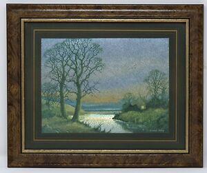 Vintage Foil Prints by Vincent Selby - A River Cottage Scene