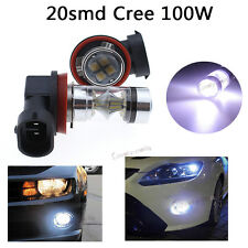 2x 100W 7500K White H11 H9 H8 CREE LED Fog DRL Daytime Driving Light Lamp bulbs