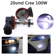 2x 7500K 100W Bright White H11 CREE LED Fog DRL Daytime Driving Light Lamp bulbs