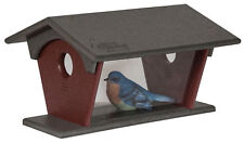 "Blue Bird Feeder Amish built Weatherproof Polywood Measures: 14�w x 11½�h x 5""d"