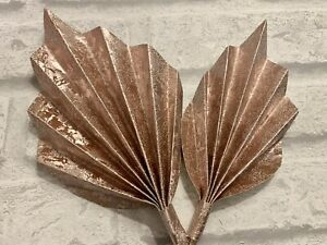 2 Rose Gold Palm Spears For Cake Decoration , Cake Topper