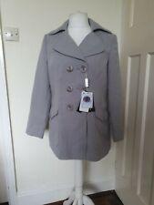 Gris cálido abrigo chaqueta de armario de suave tamaño 14