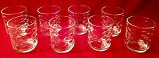 Set of 8 Libbey Rock Old Fashioned Glasses with Scalloped Dot Interior texture