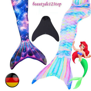 Mädchen Swimmable Kids Meerjungfrau Kostüm -Schwanz zum Schwimmen mit Monoflosse