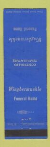 Matchbook Cover - Wingbermuehle Funeral Home St Louis MO