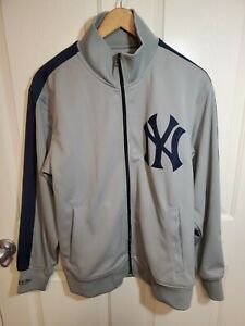 Mitchell Ness New York Yankees Cooperstown Collection Baseball Jacket Gray Med
