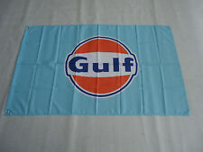 Banner Flag 3x5FT Wall Garage FOR Gulf Racing Gasoline Flag Free Shipping
