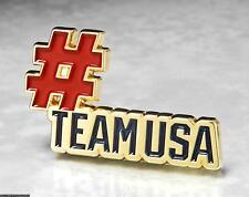 OLYMPIC PINS BADGE 2020 TOKYO JAPAN TEAM USA NOC FLAG PATRIOTIC #TEAMUSA HASHTAG