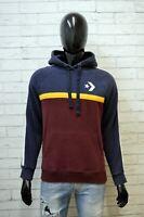 Felpa Uomo Converse Taglia M Maglione Slim Maglia Pullover Cardigan Sweater Man