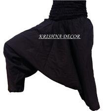 Indian Black Harem Gypsy Hippie Ali Baba Baggy Aladdin Boho Yoga Cotton Pants
