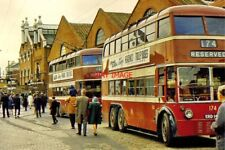 PHOTO  READING 1968 THE TROLLEYBUS DEPOT IN MILL LANE ON THE LAST DAY OF OPERATI