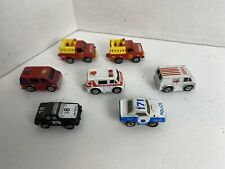 Galoob Micro Machines - Lot of 7 Emergency Vehicles - Police, Rescue, Fire