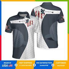 Golf Swing American Flag Golf Ball Texture Polo Shirt 3D All Over Printed