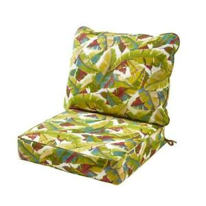 Lounge Chair Cushion Set 25 in. x 22 in. Reversible Uv Rewsistant ( 2-Piece)