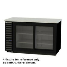 """Beverage Air Bb58Hc-1-Gs-S Two-Section 59"""" Refrigerated Back Bar Storage Cabinet"""