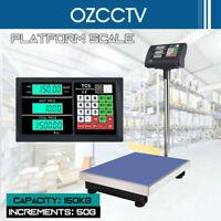 150kg Electronic Scale Weight Commercial Digital Platform Scales Postal Shop AU