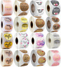 Thank You For Your Order Stickers Small Business Purchase Round Labels 25mm