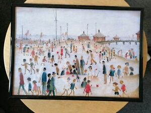 """L. S Lowry """"At The Beach"""" Framed Print"""