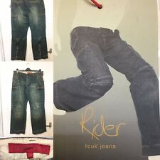 Mens FCUK French Connection Blue Jeans Low Rise Action Leg Relaxed W36 L32  T41 