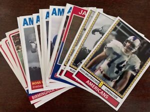 WFL Football Cards Birmingham Americans lot 24 Cards USFL XFL AFL AAF Stallions