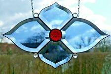 Bleiverglasung Bleiglas Facetten- Fensterbild mit Jugendstilglas  in Tiffany