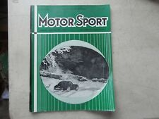 Motor sport Magazine Aptil 1958 Published England sale ad for show  car STARDUST