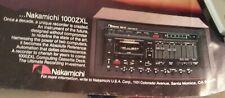 Nakamichi 1000ZXL Cassette Deck Poster