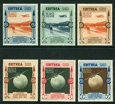 Italy 1934 Eritrea First Airmail Set Scott # C1-6 MNH M742 ⭐⭐⭐⭐⭐⭐
