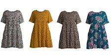 Terra & Sky Women's Plus Size Short Sleeve Tiered Dress