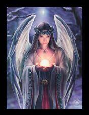 3D Bild mit Engel - Yule Angel - Anne Stokes Fantasy Leinwand Poster Druck Foto