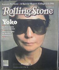 Oct. 1, 1981 Rolling Stone Magazine with Yoko Ono Cover - The Three Stooges!