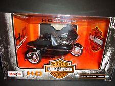 Maisto Harley Davidson FLHT Electra Glide 1998 Black with Side Car 1/18
