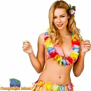 Aloha Hula Girl Hawaiin Multicoloured Lei Womens Fancy Dress Accessory