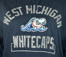 West Michigan Whitecaps Navy Blue 47 Brand Long Sleeve Shirt Hoodie Jacket Med
