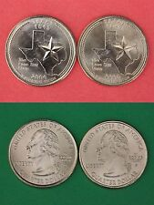 2004 D P Texas State Quarters From Uncirculated Mint Sets Flat Rate Shipping