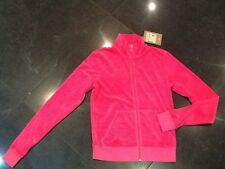 """NWT Juicy Couture New & Genuine Ladies Small Pink Cotton Jacket & """"J"""" Zip Pull"""