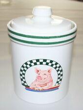 "Century Japan, Ceramic Canister, Pig Kitchen Farmhouse, 5 3/4"" Tall"